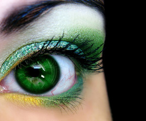 eye, green, and make up image