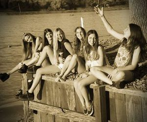 friendship, sepia, and friends image