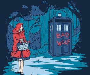 doctor who, bad wolf, and tardis image