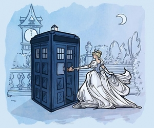 cinderella, disney, and doctor who image
