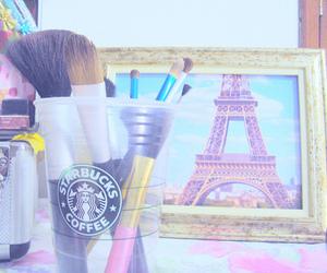 Brushes, makeup, and paris image
