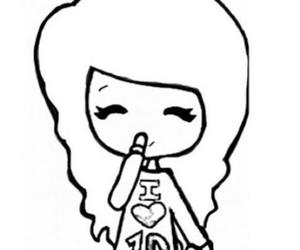 girl, 1d, and chibi image