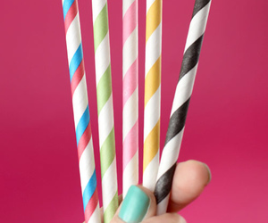 color, colorful, and straw image