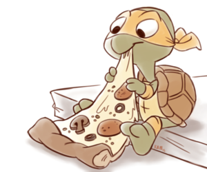 pizza, turtle, and food image