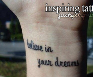 tattoo, Dream, and quote image
