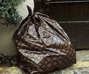 Louis Vuitton, trash, and LV image
