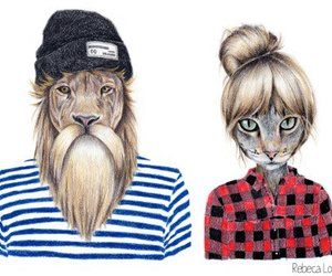 cat and lion image