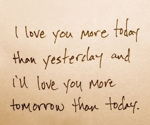 love, today, and yesterday image