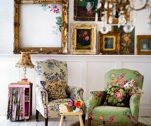 vintage, decor, and flowers image