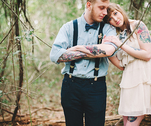 couple, photography, and tattoo image