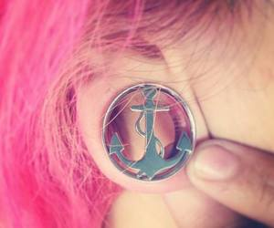 pink, anchor, and Plugs image