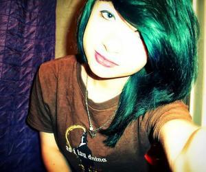 bangs, beautiful, and blue hair image