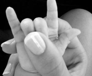 baby, rock, and hand image