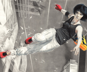 girl and mirror's edge image