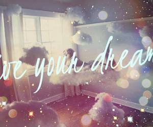 Dream, live, and clouds image
