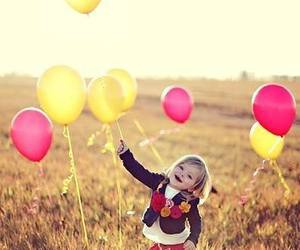 balloons and child image