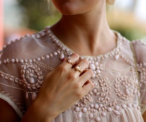 fashion, dress, and rings image