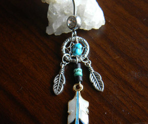 dream catcher, tribal, and turquoise image