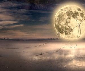 moon, Dream, and fantasy image