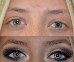 eyeliner, make up, and pretty image