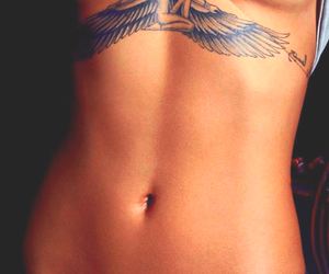 babe, girl, and tattoo image