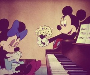 flowers, mouse, and love image