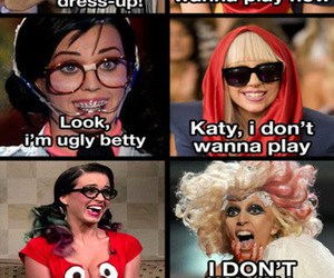 funny, katy perry, and Lady gaga image