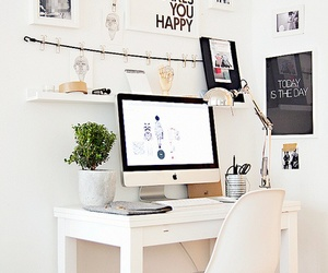 room, white, and desk image