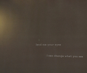 quote, eyes, and text image