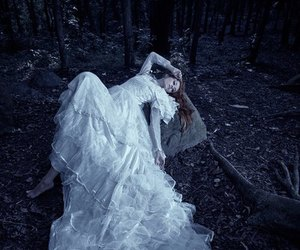 forest, dark, and dress image