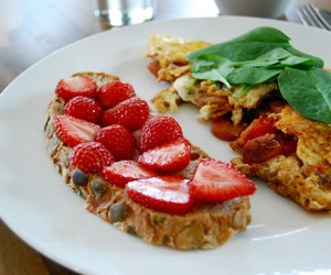 strawberry, breakfast, and delicious image