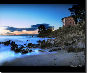 beach, italy, and golddragon image