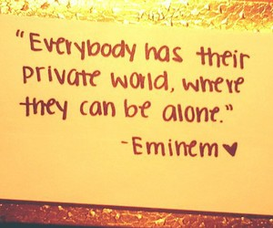eminem, quote, and alone image