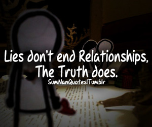 Relationship, lies, and truth image