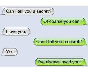 secret, tell, and I Love You image