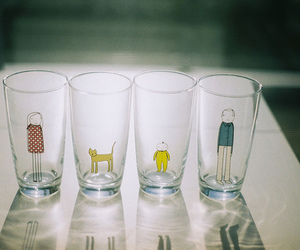 cute, glasses, and glass image