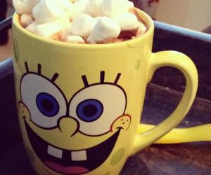 spongebob, cup, and marshmallow image