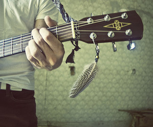 abandoned, guitar, and house image