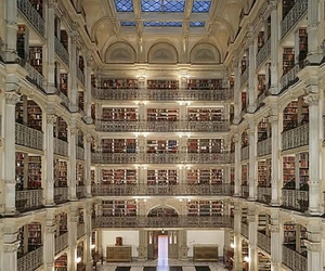 building, library, and george peabody library image