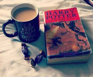 harry potter, book, and tea image