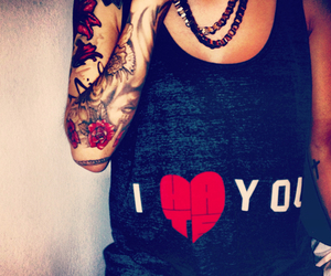 clothes, ink, and love image