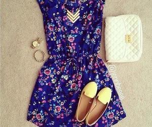 azul, florido, and branca image