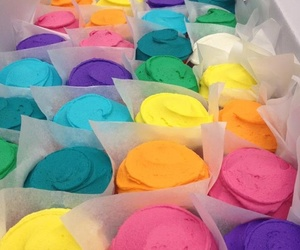 colorful, candy, and cupcake image