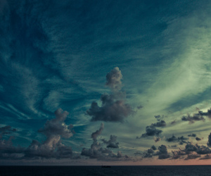 sky, clouds, and sea image
