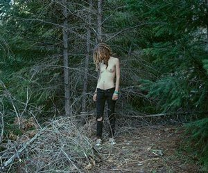 dreadlocks, forest, and girl image