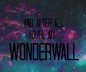 wonderwall, love, and couple image