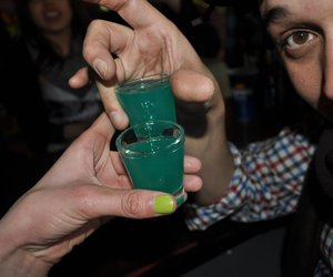 alcohol, green, and blue image