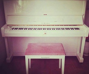 piano, music, and pink image