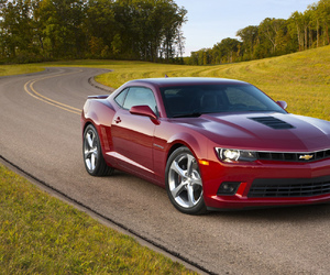 car, red, and chevrolet image