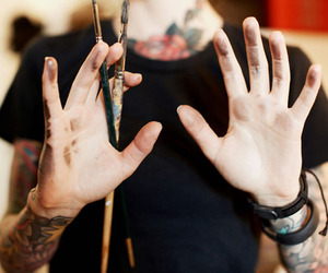 tattoo, art, and paint image